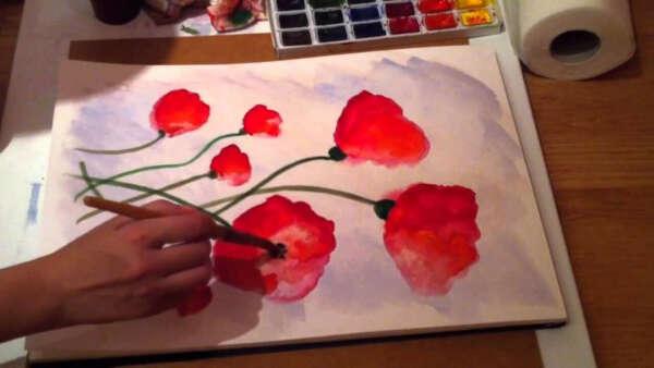 Мастер-класс по рисованию акварелью