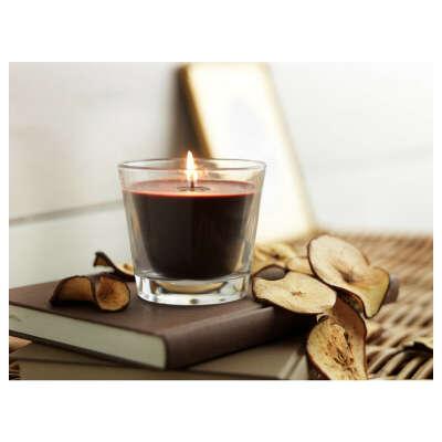 ТИНДРА Ароматическая свеча в стакане Яблоко и Корица - IKEA