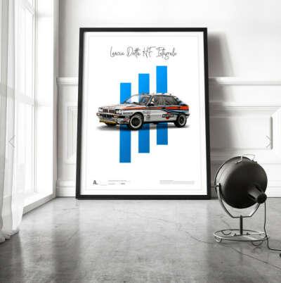 Aclassica – купить постер Lancia Delta HF Integrale
