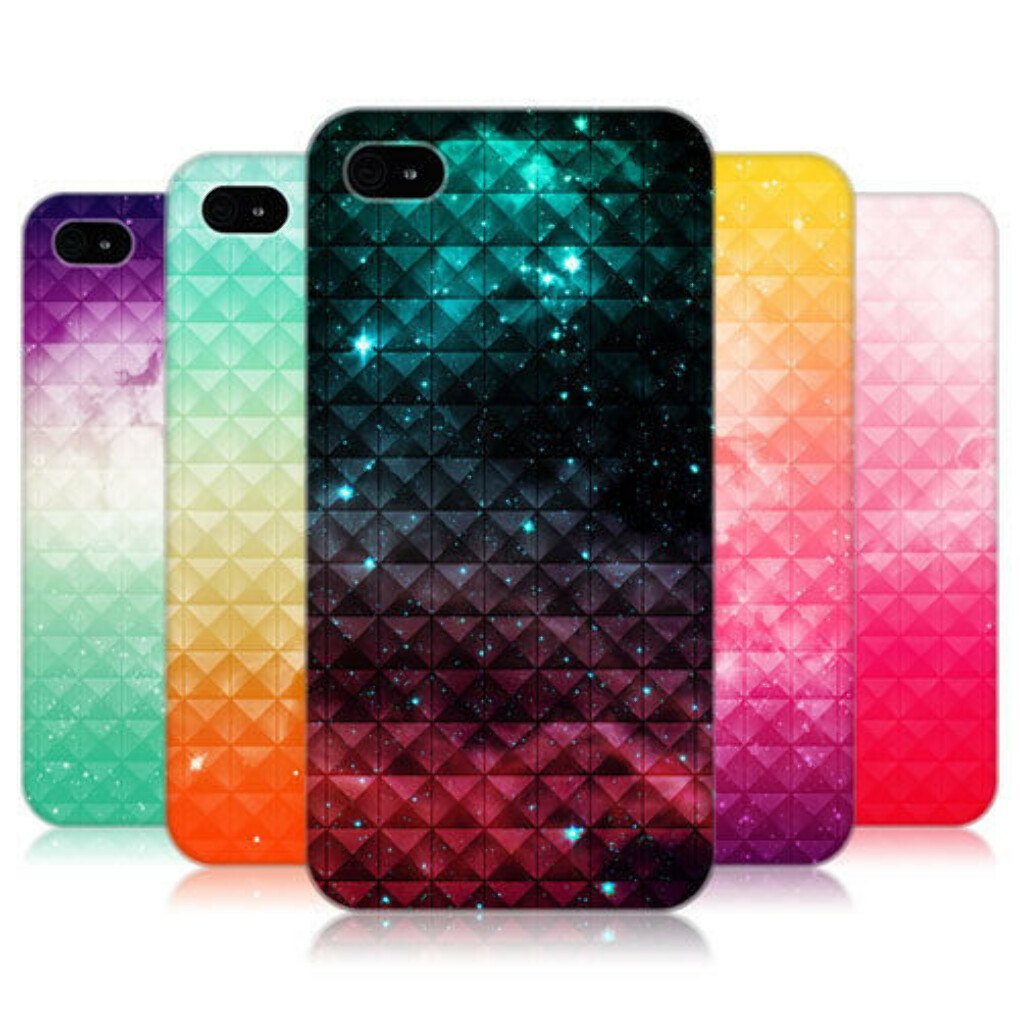 HEAD CASE PRINTED STUDDED OMBRE PROTECTIVE BACK CASE COVER FOR APPLE iPHONE 4 4S