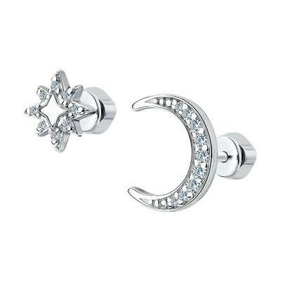 Серьги из серебра с фианитами арт. 94023965 от SOKOLOV