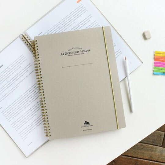 Папка с файлами A4 Document  / Бежевый