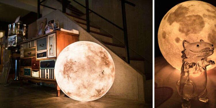 Лампа в виде луны
