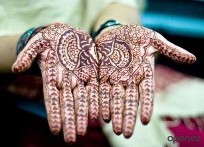 Рисунок на руке хной - мехенди