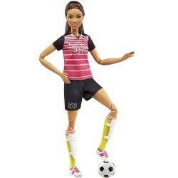 Кукла Барби (Barbie) - Футболистка (брюнетка) - купить в Империи Кукол - Империи Kids