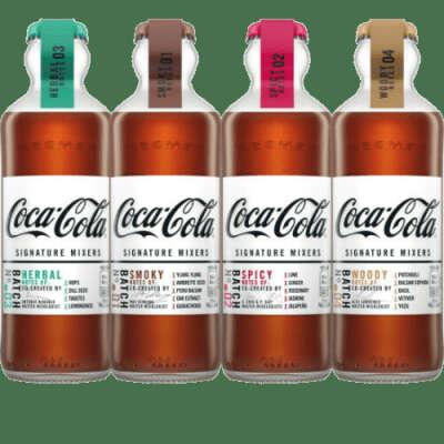 Coca-Cola Signature Mixers - набор 4 вкуса (Smoky, Spicy, Herbal, Woody) (Франция), 200 мл (4 шт)