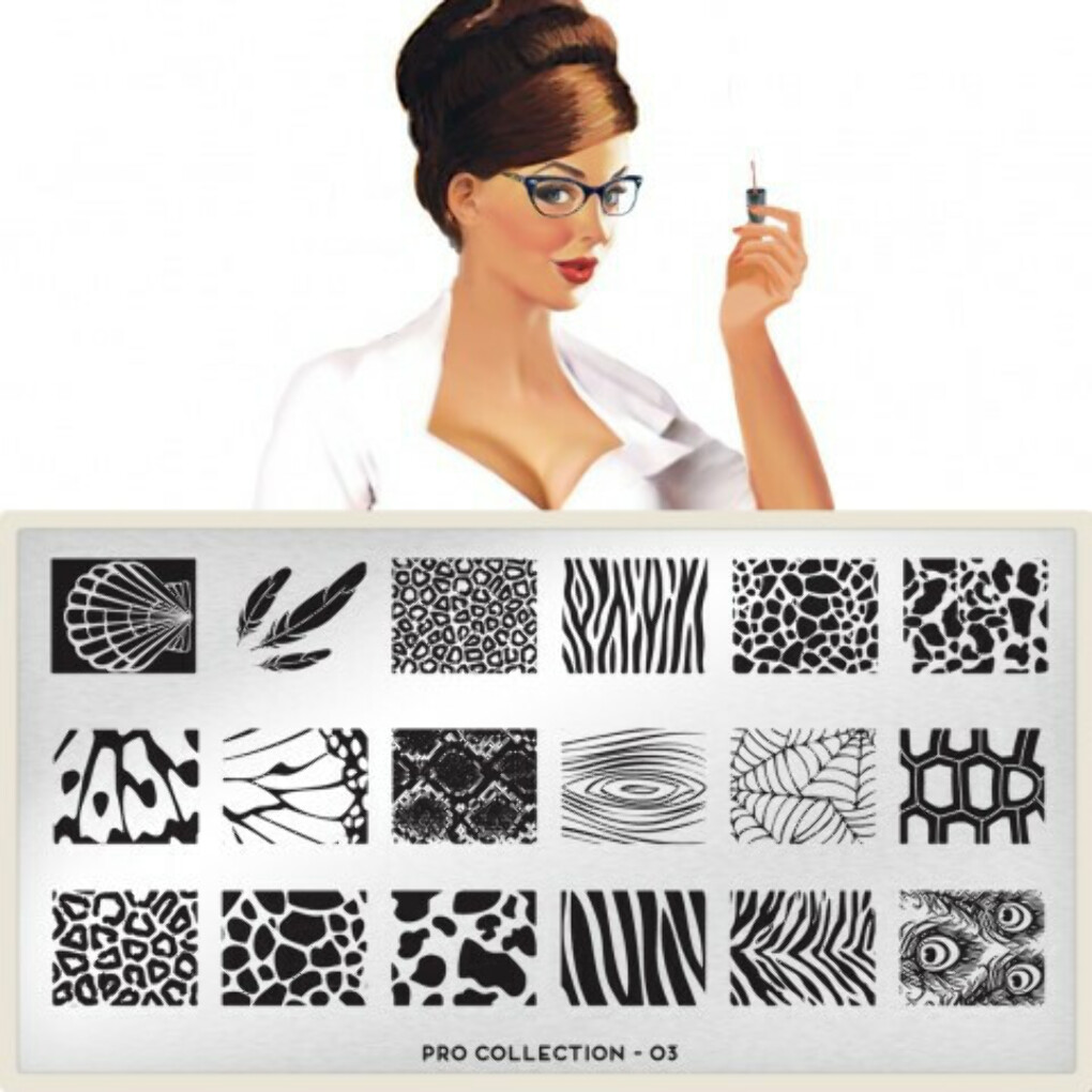 moyou Nail Art design Image Plates-pro collection Pro Plate Collection 03