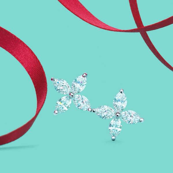 Tiffany and Co diamond earrings
