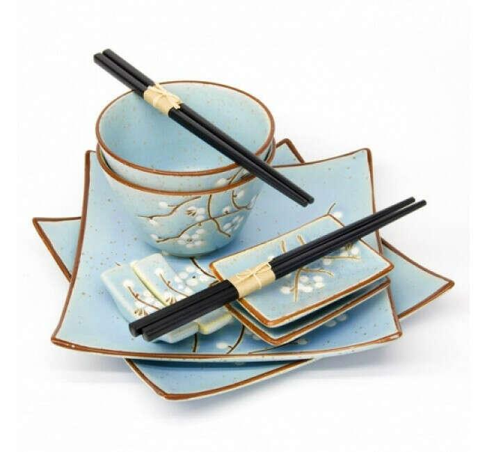 Фарфоровый набор для  суши и роллов