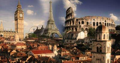 совершить сумашедший тур по Европе