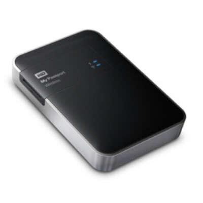 беспроводной портативный HDD, например WD My Passport Wireless