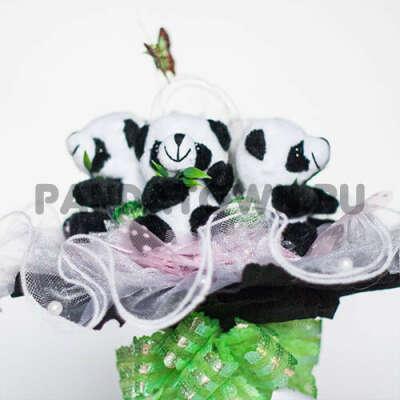 Букет с пандами