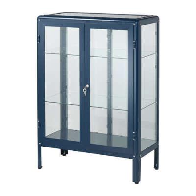 ФАБРИКОР Шкаф-витрина - синий  - IKEA