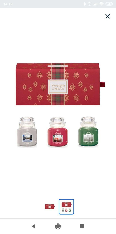 """Подарочный набор 3 свечи """"Рождество в Альпах"""" (Уютный дом,  Гранатовый джин, Вечнозеленая хвоя)"""