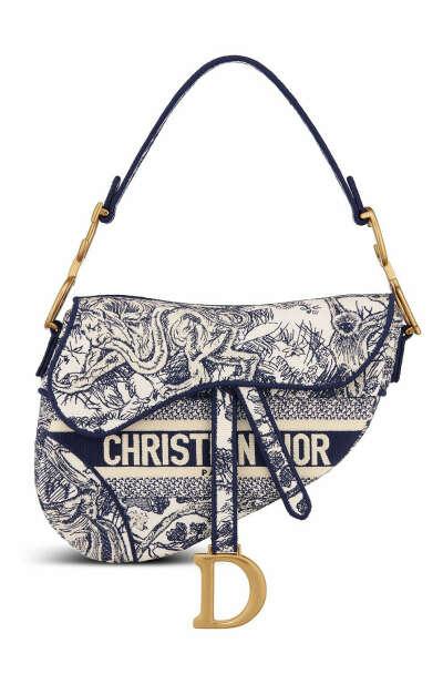 Женская синяя сумка saddle DIOR — купить за 310000 руб. в интернет-магазине ЦУМ, арт. M0446CTDTM808