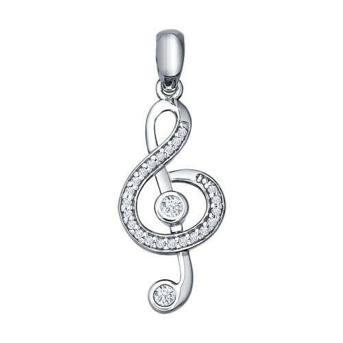 Серебряная подвеска «Скрипичный ключ»