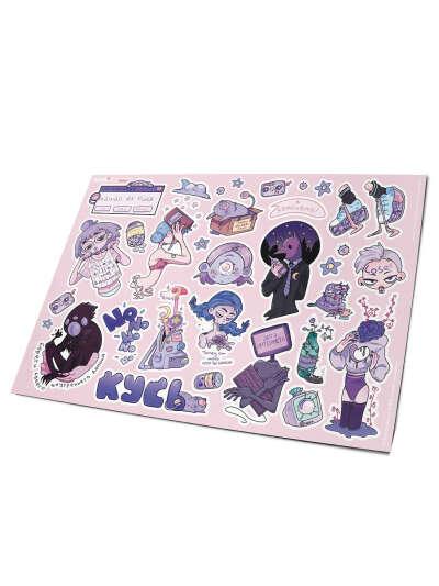 Стикеры Pack Purple, no kids stickers