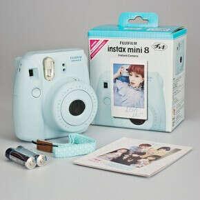 Фотокамера Fuji Instax Mini 8 BLUE - современный полароид-фуджи