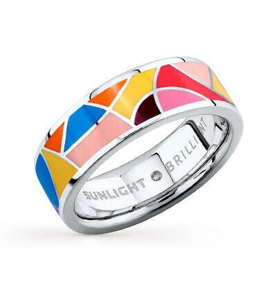 Серебряное кольцо c эмалью Sunlight