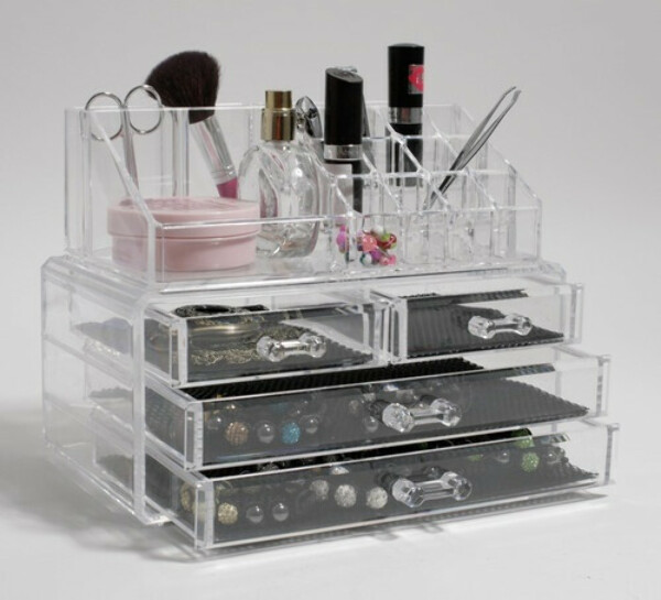 Quality Makeup Cosmetic Clear Acrylic Organiser Organizer Display w Drawers #89