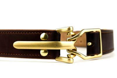 Ремень из английской кожи с кавалерийской пряжкой Littleton