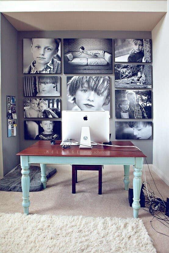Напечатать и повесить любимые фотографии