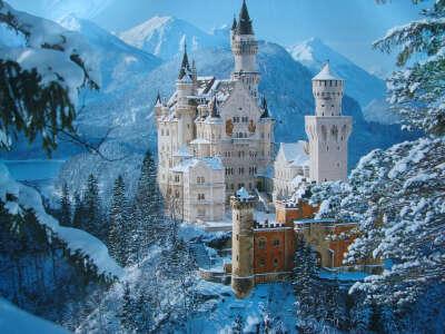посетить замок Нойшванштайн (Германия)