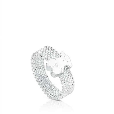 Кольцо серебряное Mesh