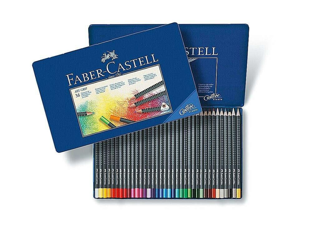 Набор цветных карандашей Faber-Castell Art Grip, набор из 36 шт.
