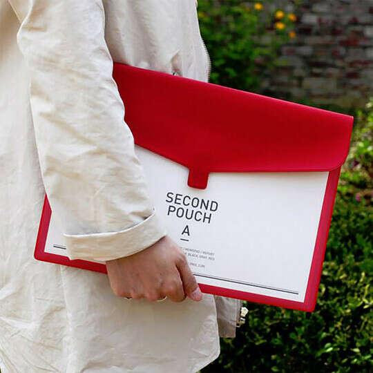 Папка Second Pouch  / Красный