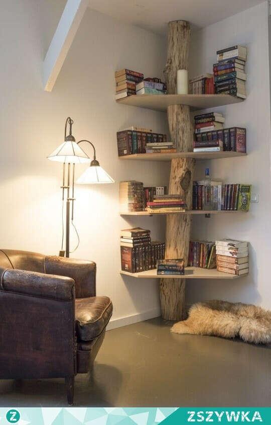 Необычная полка для книг