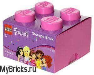 Lego Friends 4003-PINK Розовый Кирпичик для Хранения 2 x 2