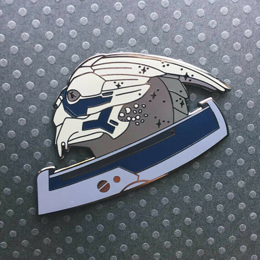 Black Nickel Starry Garrus Enamel Pin