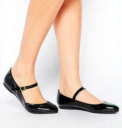 Туфли в стиле Мэри Джейн с ремешком на подъёме