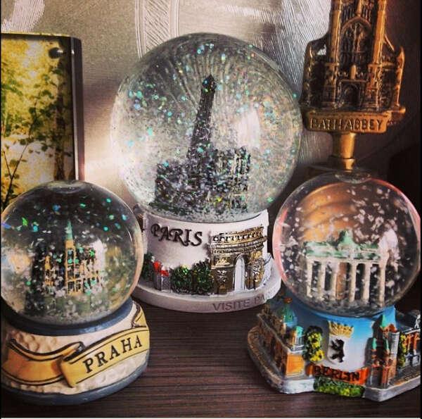 Стеклянные шары из разных городов
