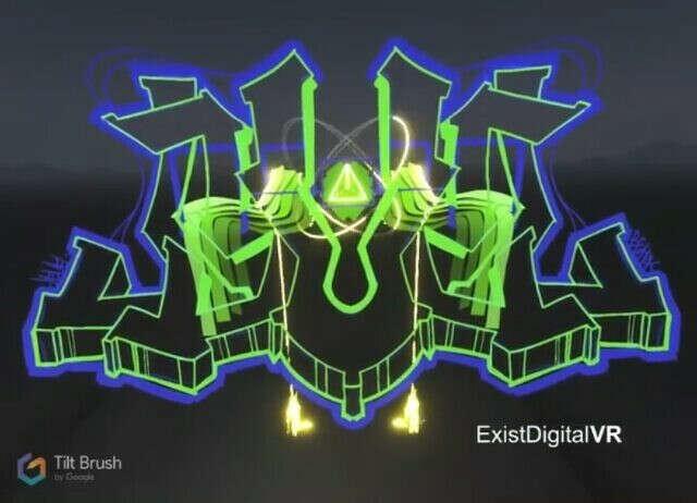 "VR art studio on Instagram: ""Рисование в виртуальной реальности . Граффити от @xerkerfuture  #vr #tiltbrush #vive #sketch #sketch_daily #sketching #3d #3dmodel…"""