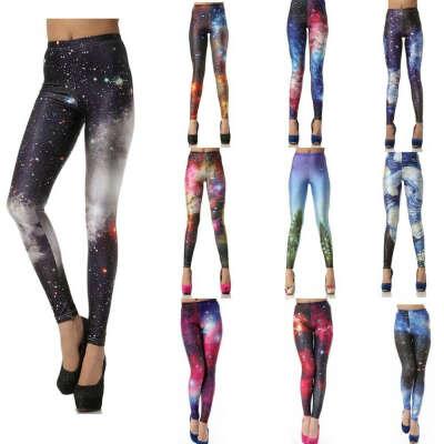 Black milk Women leggins 3D  Digital Van Gogh Starry Night Galaxy Print Leggings for Women  2015 New Drop Shipping KDK1019 купить на AliExpress
