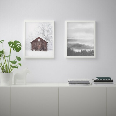 БИЛЬД Постер - Снежно - IKEA