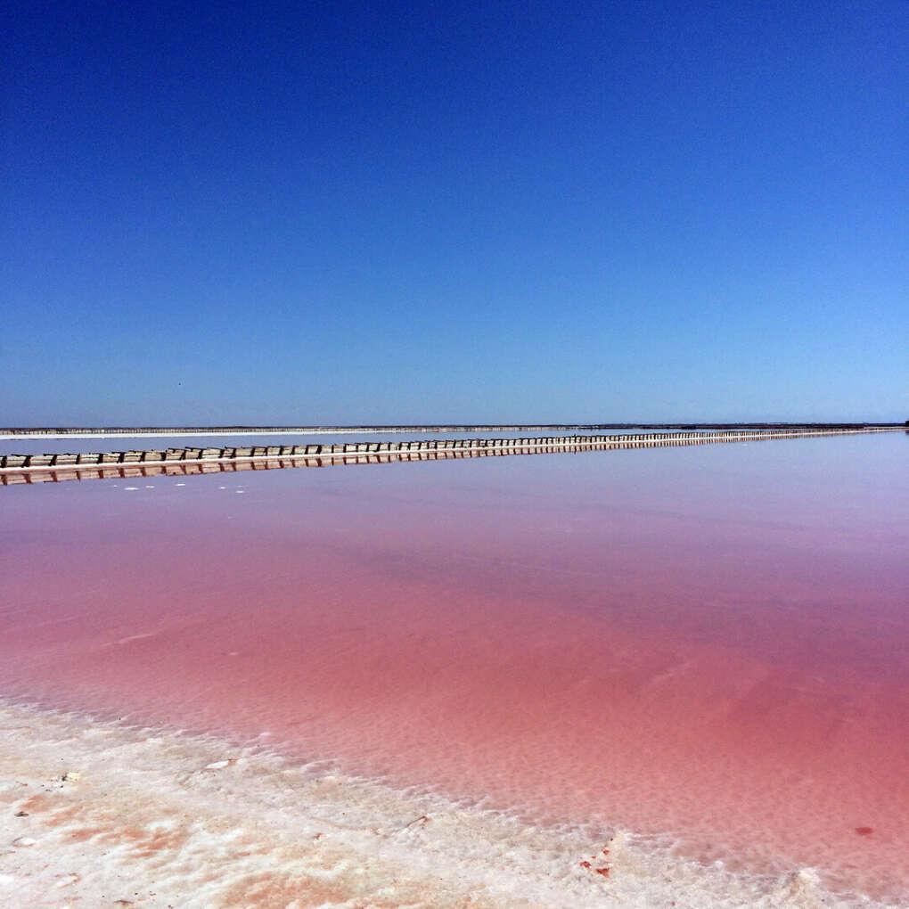 Увидеть розовое озеро