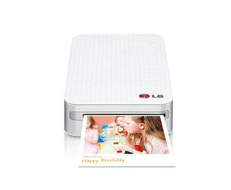 Карманный фотопринтер - LG Pocket Photo PD233   С беспроводным соединением с помощью NFC или Bluetooth, с приложением для добавления QR-кода и с бумагой без чернил ZINK   Безграничные возможности для общения   LG Electronics Россия