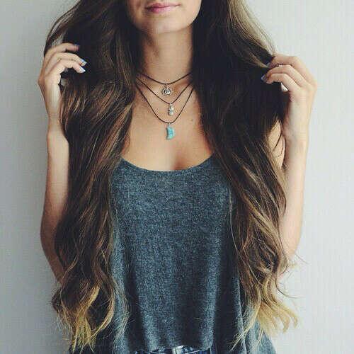 Красивые густые длинные здоровые волосы