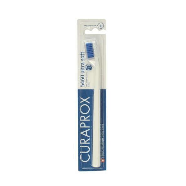 """Зубная щетка CURAPROX cs5460 белая """"ultrasoft"""", d 0,10 мм, цвет щетин ассортименте"""
