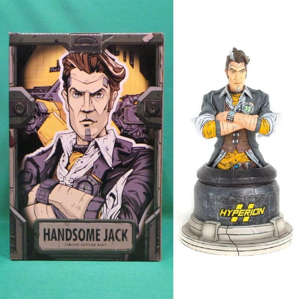 """Borderlands Handsome Jack Bust 7"""" Limited Edition Porcelain Statue Figure NIB"""