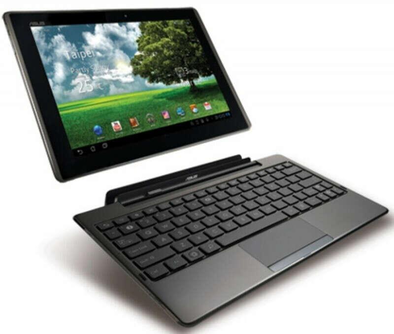 планшет вместе с ноутбуком