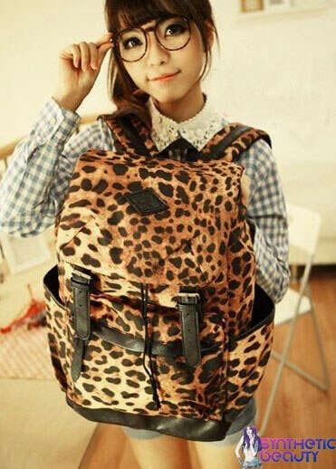 леопардовый портфель