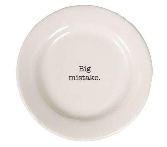 """Диетическая тарелка """"Большая ошибка"""""""