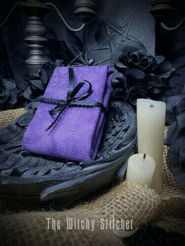 Лиловая канва ручного окрашивания, аида 14