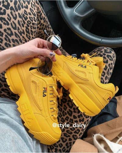 Кроссовки fila жёлтые