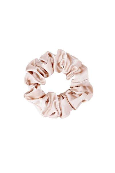 Резинка для волос из натурального шёлка (чёрная)