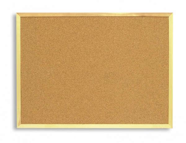 Доска пробковая 120х90 см  Attache, рамка-дерево